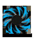 Virtually silent fan