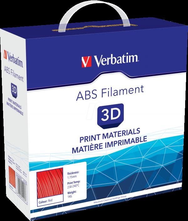 Verbatim ABS 3D Filament - 1.75mm 1kg - Red