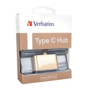 Verbatim USB-C 3.1 Dual Port USB Hub