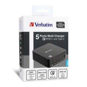 Verbatim 5 Ports 3.0 Multi Charger