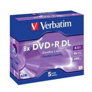 Verbatim DVD+R Double Layer 8X 5pk
