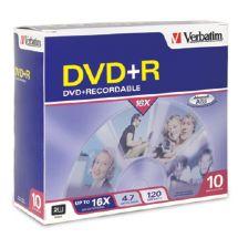 Verbatim DVD+R 16X Slim Case 10pk