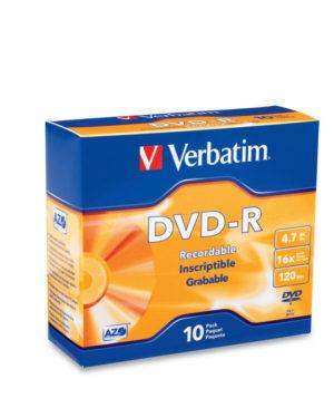 Verbatim DVD-R 16X Slim Case 10pk