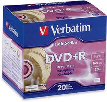 Verbatim DVD+R Lightscribe 20pk