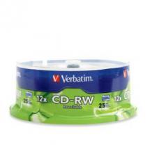 Verbatim CD-RW 4X-12X 25pk Spindle