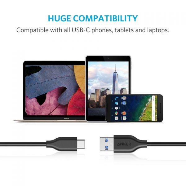 Anker PowerLine USB-C to USB 3.0 - 6FT - Black