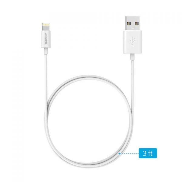 Anker Premium Lightning Cable 3ft - White
