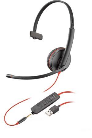 Plantronics Blackwire C3210 Corded UC USB Headset