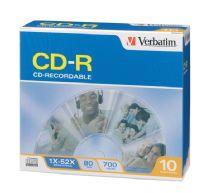 Verbatim CD-R 52X Slimcase 10pk