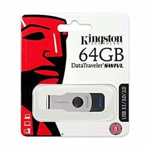 Kingston DataTraveler Swivl DTSWIVL 3.0 USB Flash Drive - 64GB