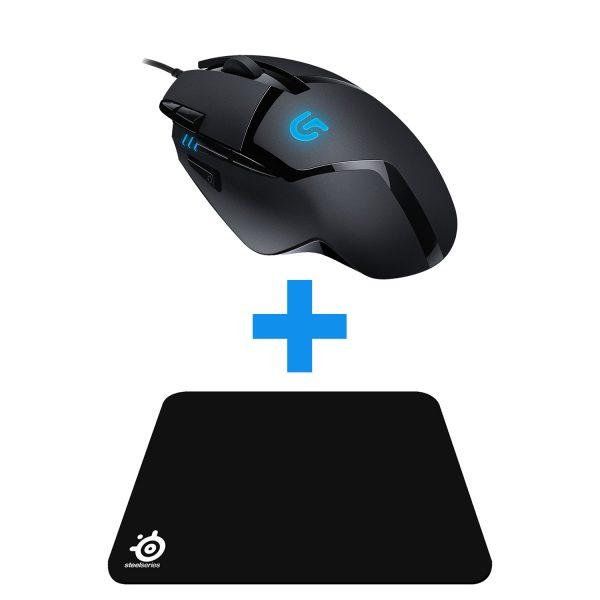 Gaming Bundle (Logitech G402 Mouse + SteelSeries Qck Mouse Mat)