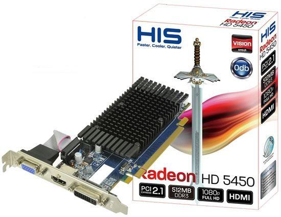 HIS ATI 5450 HD Graphic Card