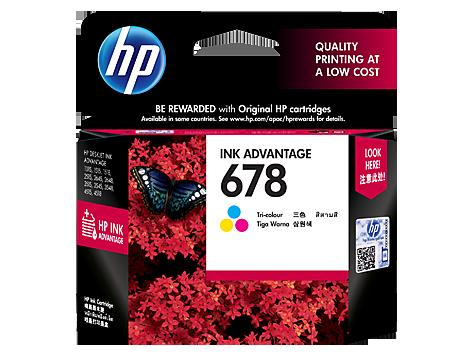 HP 678 Original Ink Advantage Cartridge - Tri-Color