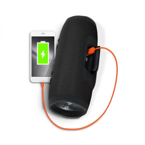 JBL Charge 3 Waterproof Portable Bluetooth Speaker (Black)