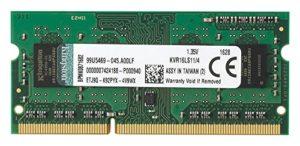 Kingston KVR16LS11/4 1600MHz DDR3L Non-ECC 1.35V CL11 SODIMM RAM - 4GB
