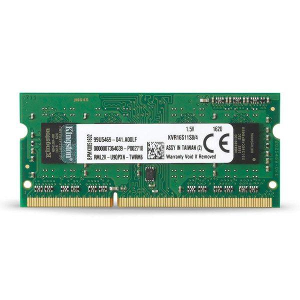 Kingston KVR16S11S8/4 1600 MHz DDR3 Non-ECC CL11 SODIMM 204-Pin RAM - 4GB