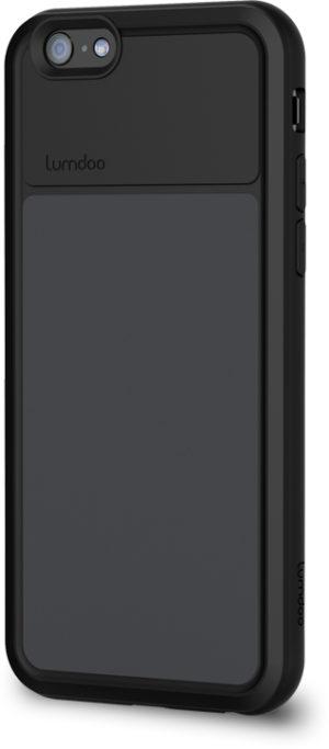 Lumdoo Duo Cover for iPhone 6 with Original Night Glow Effect + Lumdoo Light Pen (Black/Black)