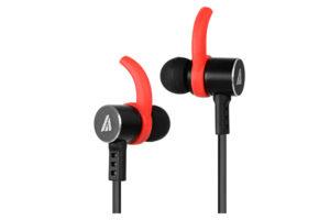 A4Tech HD Metallic Earphones With Mic MK-820 - Black/Red