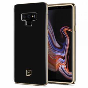 Spigen Samsung Galaxy Note 9 Case La Manon ÉTUI - Gold Black
