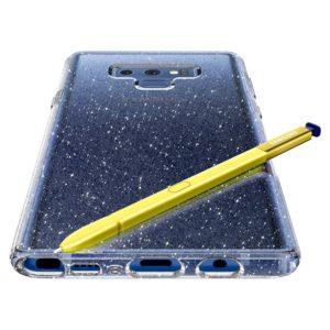 Spigen Samsung Galaxy Note 9 Case Liquid Crystal Glitter - Crystal Quartz