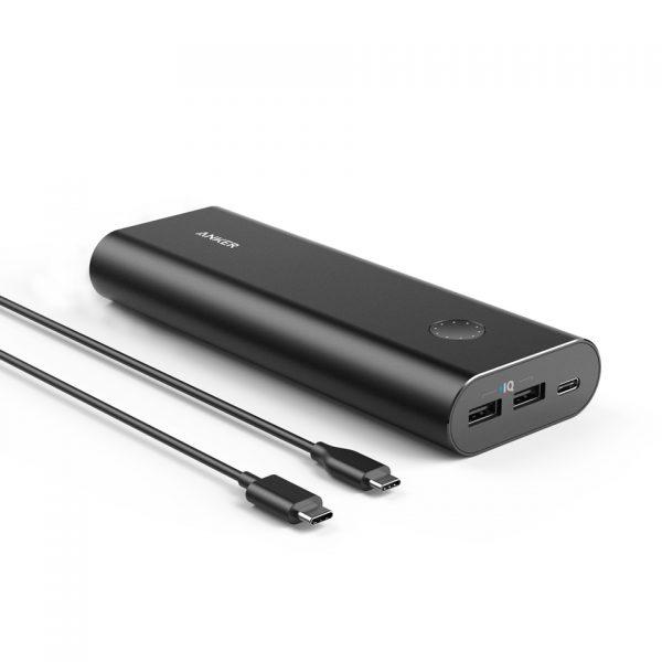 Anker PowerCore+ 20100 USB-C Power Bank - Black