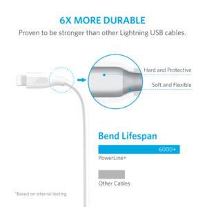 Anker PowerLine+ 3ft Lightning Cable - White