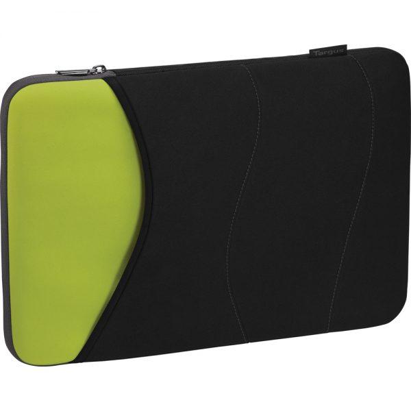 Targus Quash Sleeve for 13.3 Notebook - Black/Green