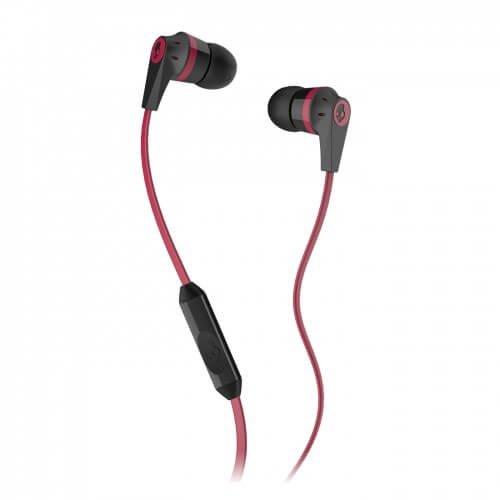 Skullcandy Ink'd 2.0 Earbud Headphones with Mic - Black/Red