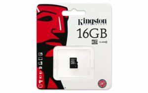 Kingston MicroSDHC Class 4 Memory Card - 16GB