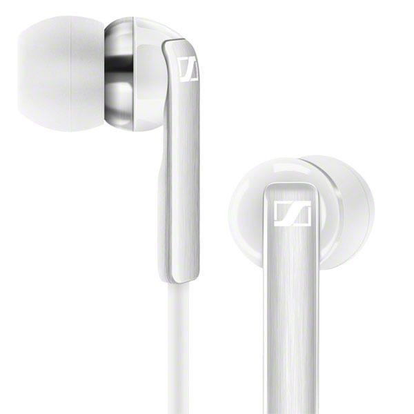 Sennheiser CX 2.00G Earbuds Headphones Integrated Mic (White)
