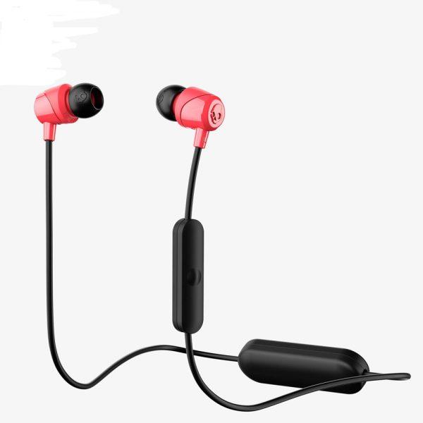 SkullCandy Jib In-Ear Wireless Headphones with Mic - Red