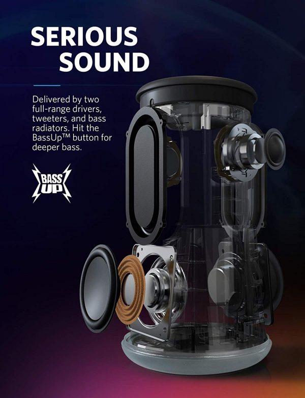 Anker Soundcore Flare Plus Waterproof Portable Bluetooth Speaker