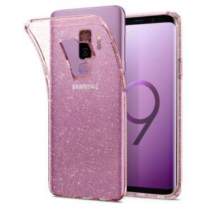 Spigen Samsung Galaxy S9 Plus Case Liquid Crystal Glitter - Rose Quartz