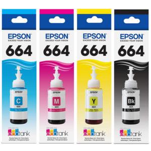 Epson 664 70ml 4 Color Ink Bottles Set