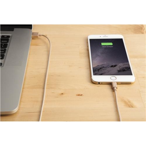 Targus Aluminium Series Lightning to USB Cable - Gold
