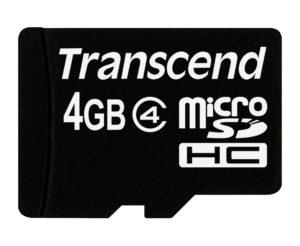 Transcend 4GB microSDHC Card Class 4 (SD 2.0)