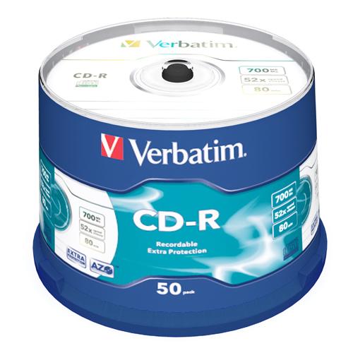 Verbatim CD-R 52X 50pk Bulk