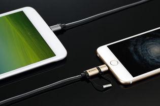Verbatim 120cm Metallic 2-in-1 Cable - Gold