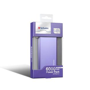 Verbatim 6000mAh Li-Polymer Power Pack Charger (Purple)