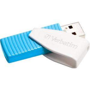 Verbatim 8GB Swivel USB Flash Drive - Caribbean Blue