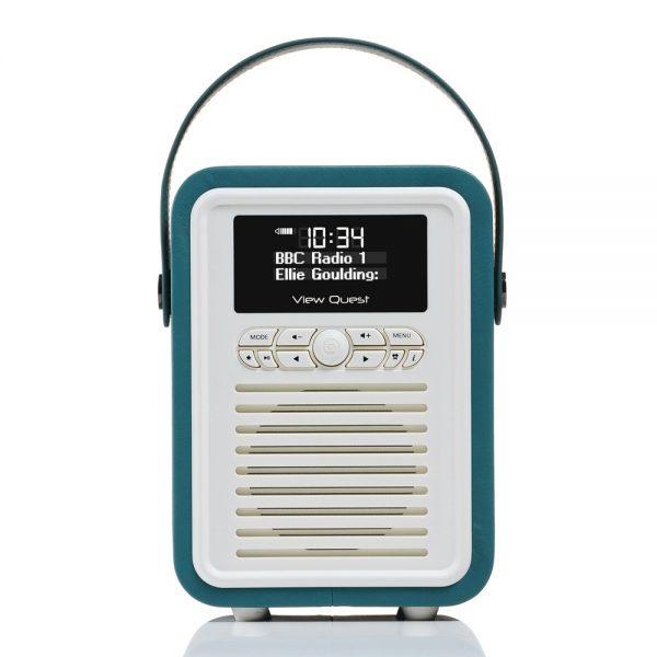 View Quest Retro Mini Bluetooth Speaker & Digital Radio - Teal