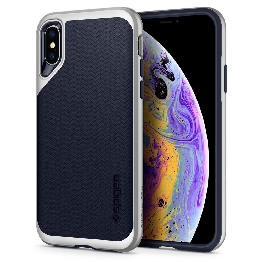 brand new 97762 b79ec Spigen iPhone XS Case Neo Hybrid - Satin Silver