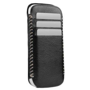 Sena Lusio Leather Wallet Case for Samsung Galaxy S4 (Black/Grey)