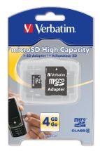 Verbatim micro SDHC Premium Card with Adapter 4GB (Class 6)