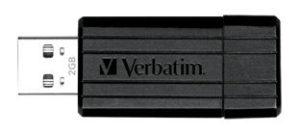 Verbatim Store'n'Go Pinstripe USB Drive 2GB (Black)