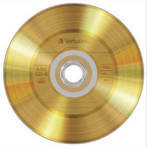 Verbatim 52X Digital Gold Vinyl CD-R Spindle/50
