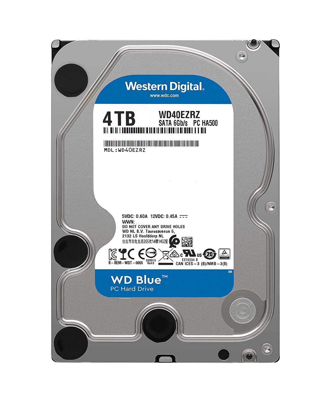 WD Blue PC Desktop Hard Drive - 4TB